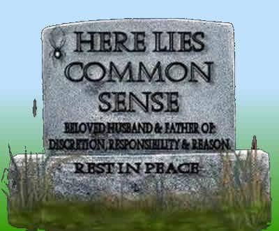 Common Sense Tombstone